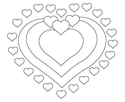 Valentine s Day hearts drawing