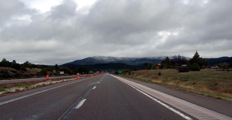 Approaching Santa Fe, New Mexico.