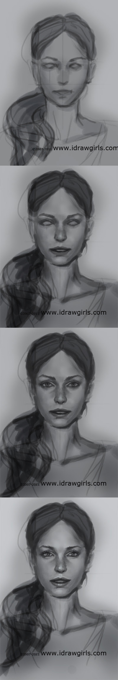 how to draw realistic face