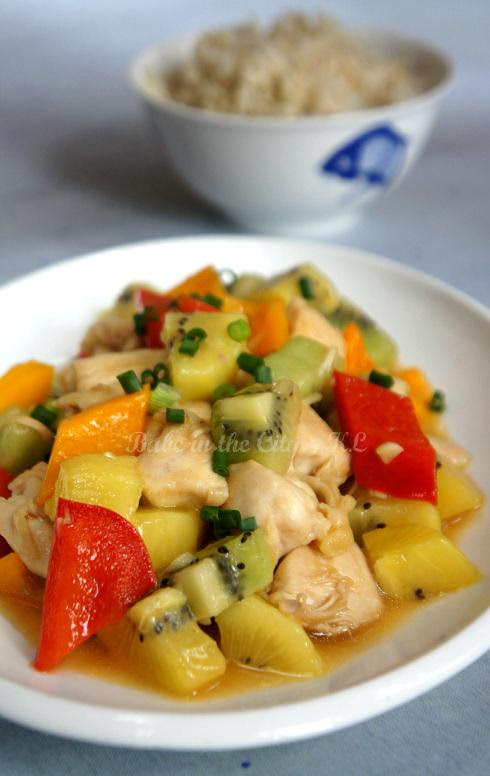 Day 13 Stir-fried Chicken with Kiwi 02