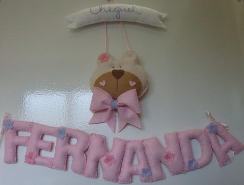 Uma ursinha à espera da Fernanda! by Menina Prendada - Manualidades da Dayse