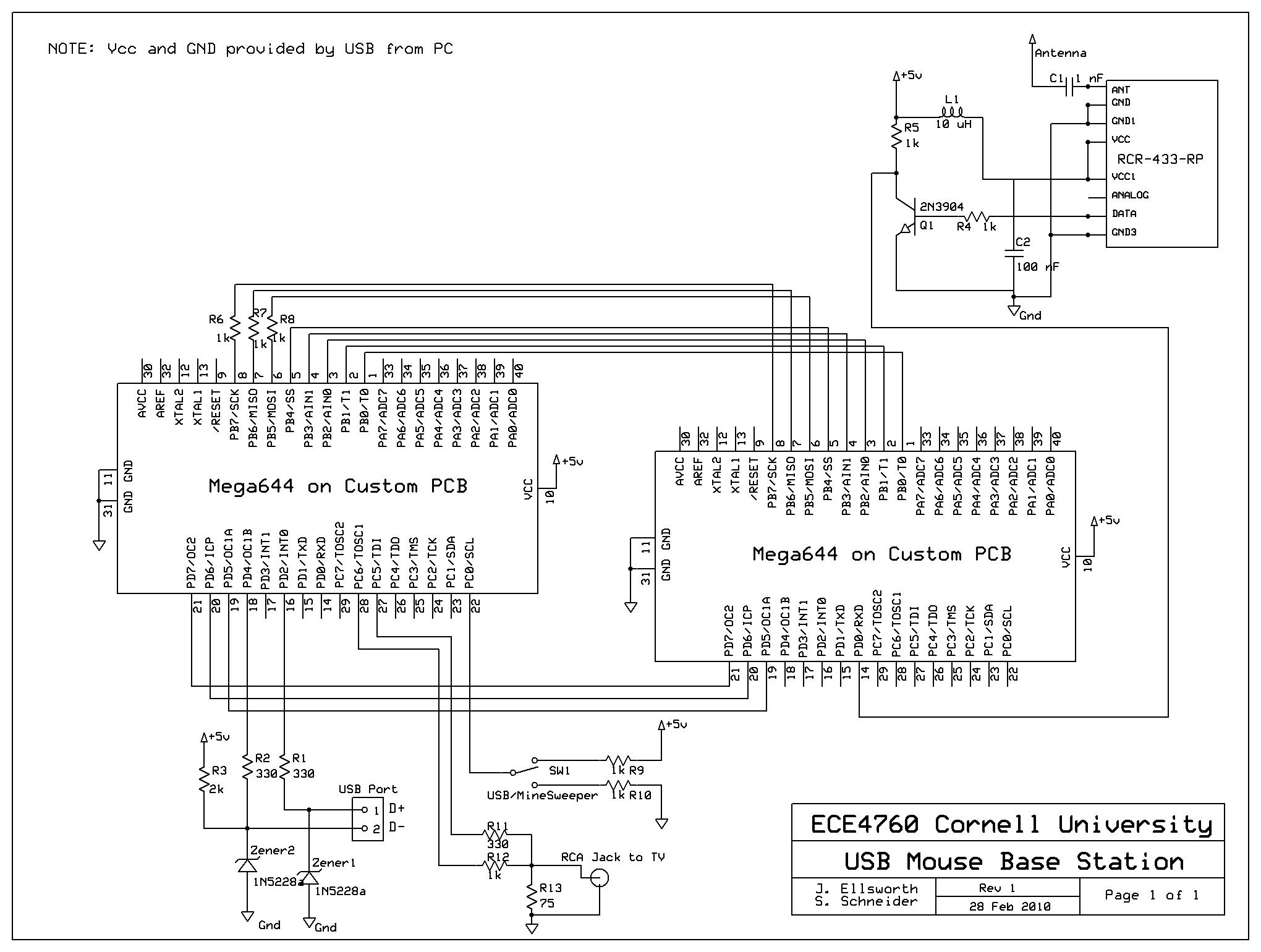 Computer Mouse Schematic Diagram