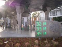 Very modern gas station