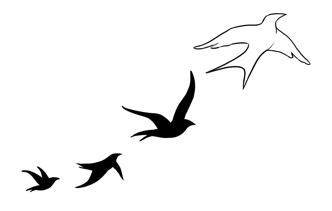 Swallow Silhouette Tattoo At Getdrawingscom Free For Personal Use
