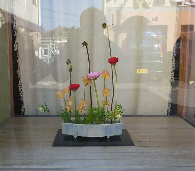 【自由花】ゼンマイ、スイートピー、テンモンソウ、ガーベラ、ゴット