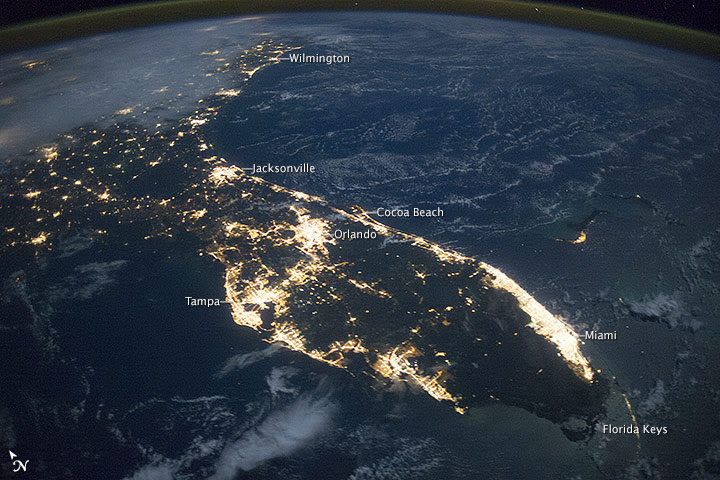 Florida at Night
