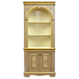 Vintage Parisian Corner Cupboard - Bookcases & Shelves - Accent ...