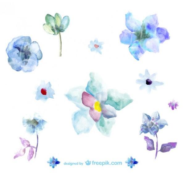 Blue Flower Vector Illustration Free Vectors Ui Download