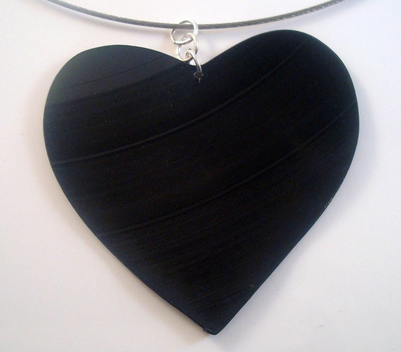 I Heart Vinyl Rockstar Necklace