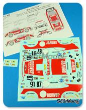 Calcas 1/24 Renaissance Models - Porsche 911 Turbo RSR Type 934 Denver - Nº Bussi + Salam, Bussi + Salam + Grandet - 24 Horas de Le Mans 1979, 1980 para kit de Tamiya TAM24328