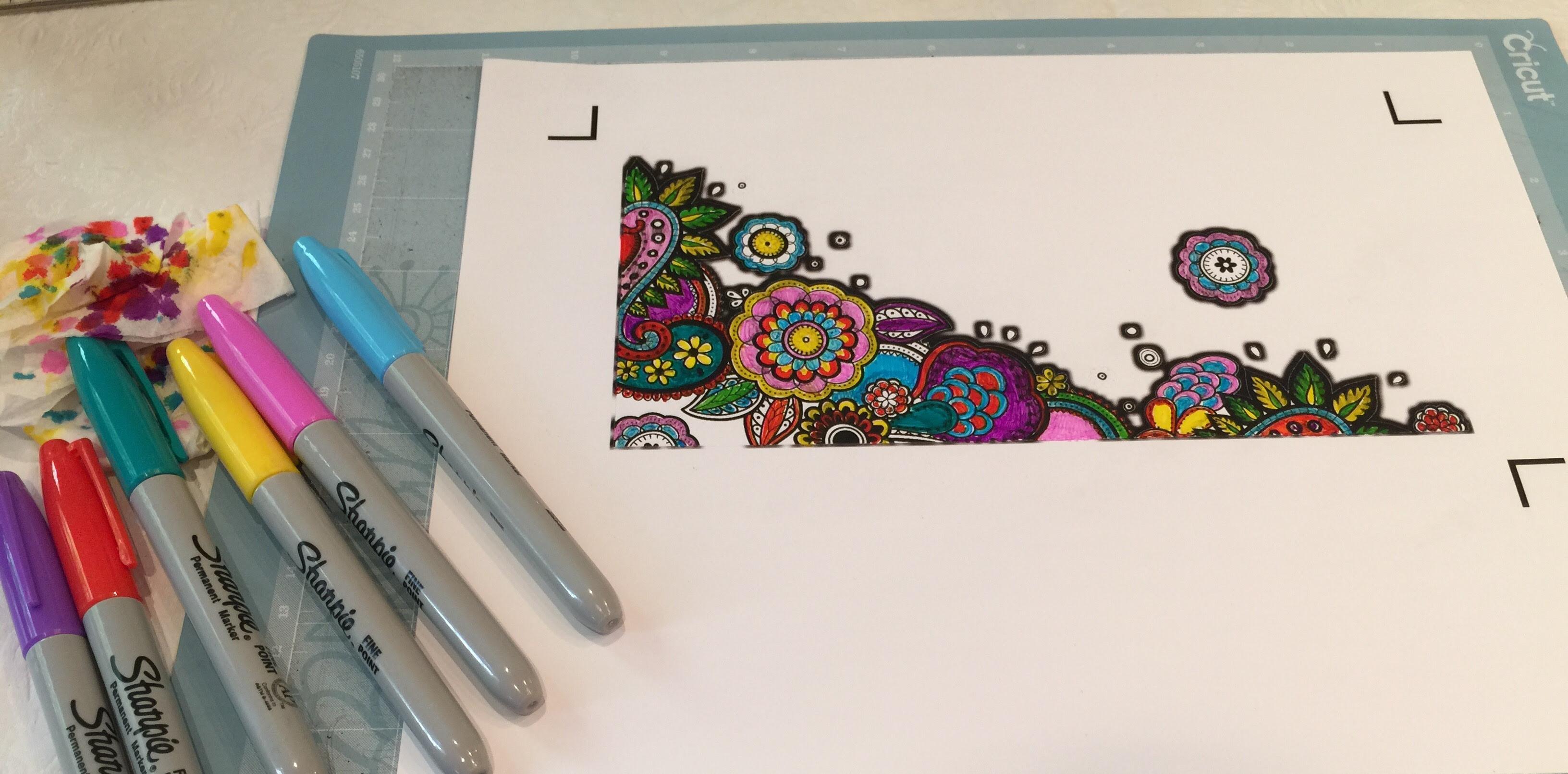 Tips for Coloring Cricut Printable Vinyl  