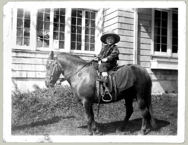 Boy on a horse enhanced
