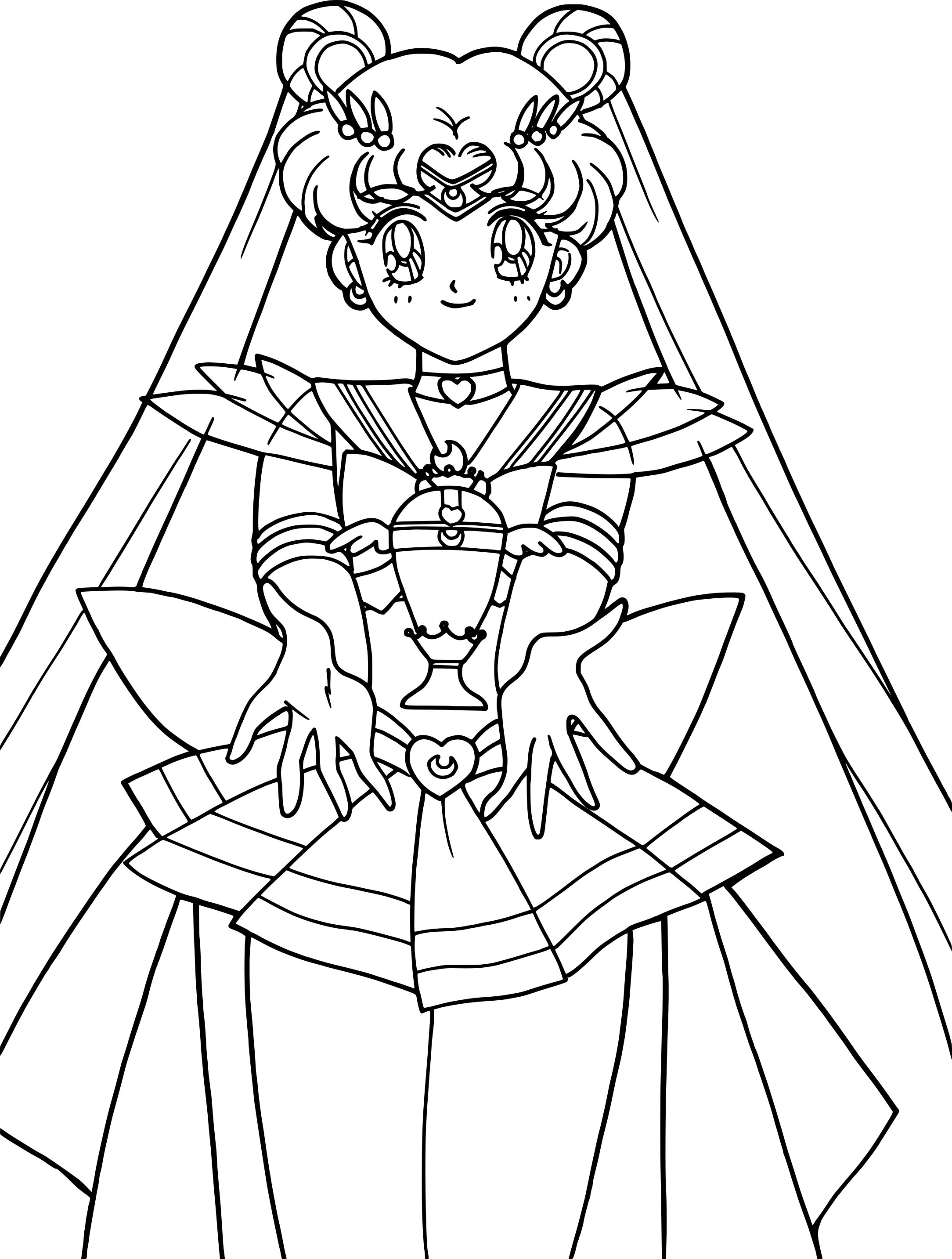 Coloriage Sailor Moon Crystal à Imprimer Gratuit