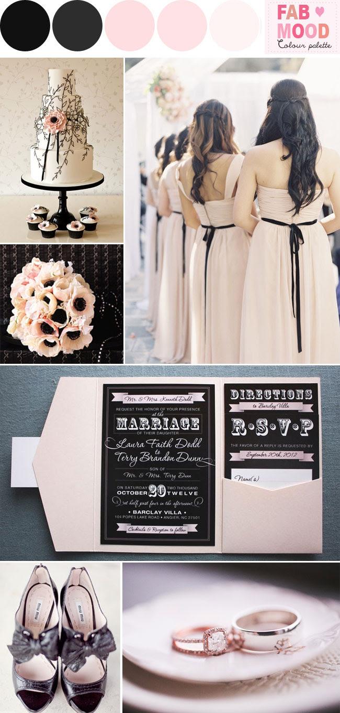 Black And Blush Wedding Colors Blush Pink And Black Wedding