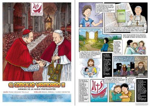 Cómic: El Concilio Vaticano II Con motivo de la celebración del año de la Fe -convocado en el cincuenta aniversario de la…View Postshared via WordPress.com