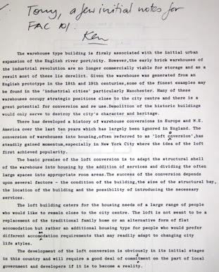 FAC 101 - a few notes on lofts by Ken