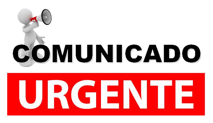 Resultado de imagen para comunicado urgente