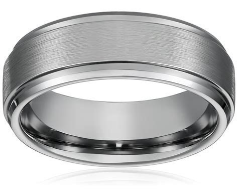 8MM Men Women Titanium Wedding Ring Band; Comfort Fit