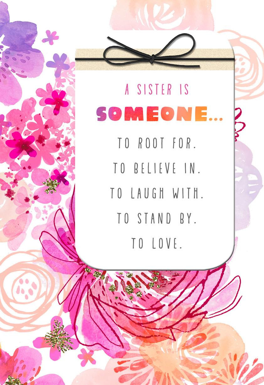 Youll Always Be Like A Sister To Me Birthday Card Greeting Cards