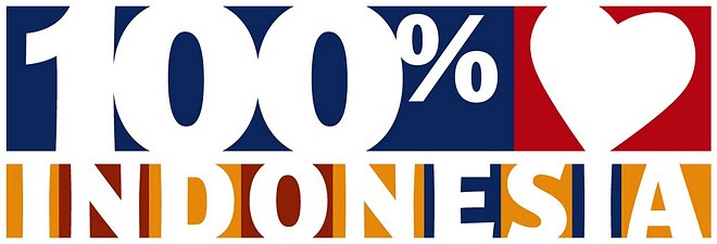 Logo 100% Indonesia
