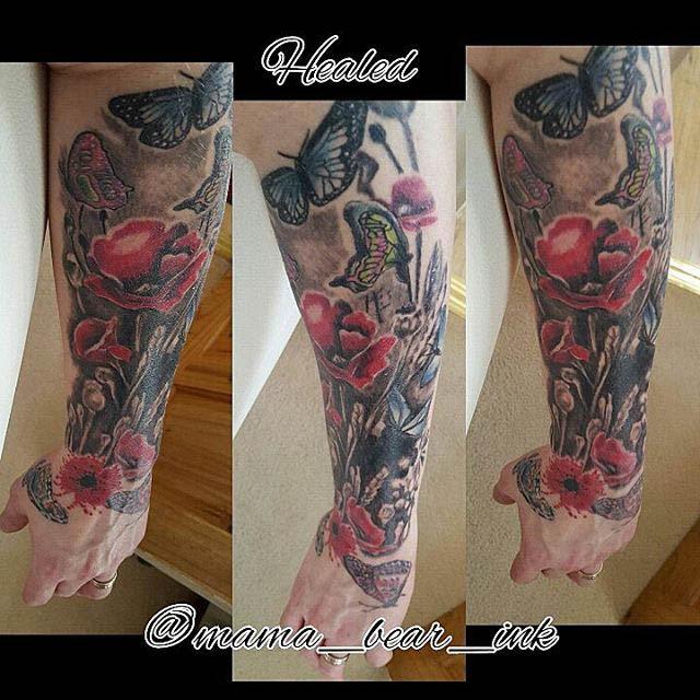 Half Sleeve Flower Tattoo Best Tattoo Ideas Gallery