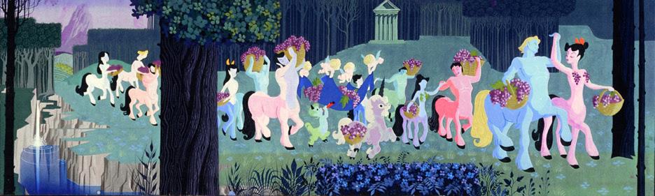 Welch's Grape Juice Mural at Disneyland 1955