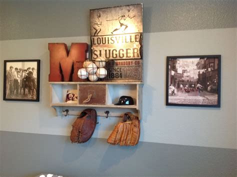 mannys baseball room shelf homegoods   metal pic
