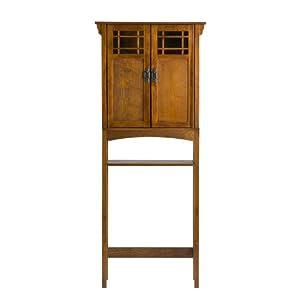 Amazon.com: SEI Mission-Oak Bathroom Space Saver: Home & Kitchen