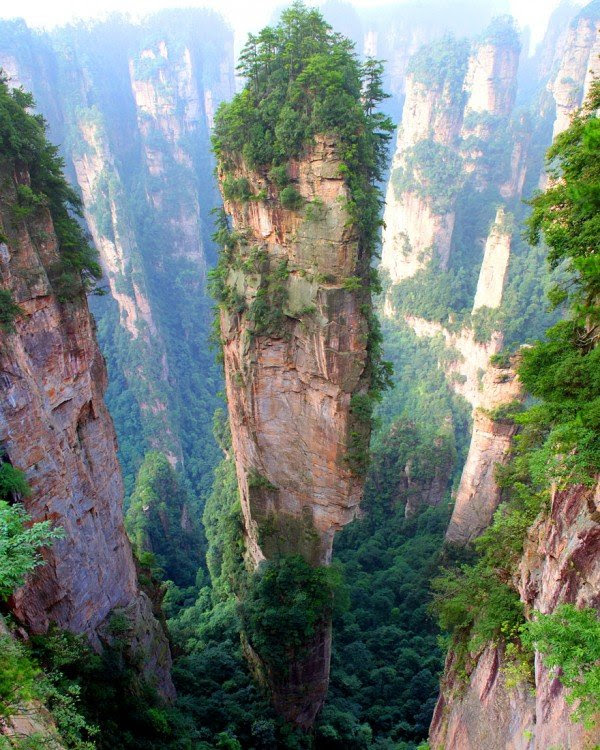 montañas en china