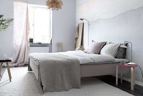 Asimetría en lámparas de noche, dormitorio Tina Hellberg