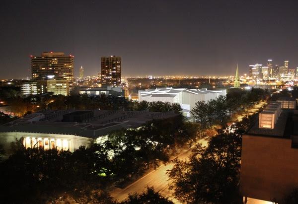 News, Shelby, Museum of Fine Arts, night view of Sarofim campusJanuary 2015