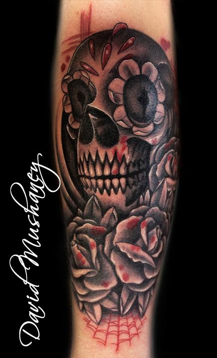 Rebel Muse Tattoo Tattoos Skull Black And Gray Skull And Roses
