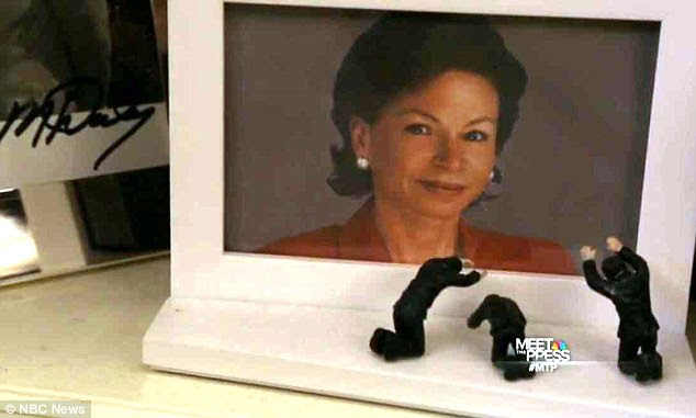 POWER: During a July 2014 broadcast interview with NBC, Jarrett showed off her office – including a picture frame decorated with figurines bowing to her