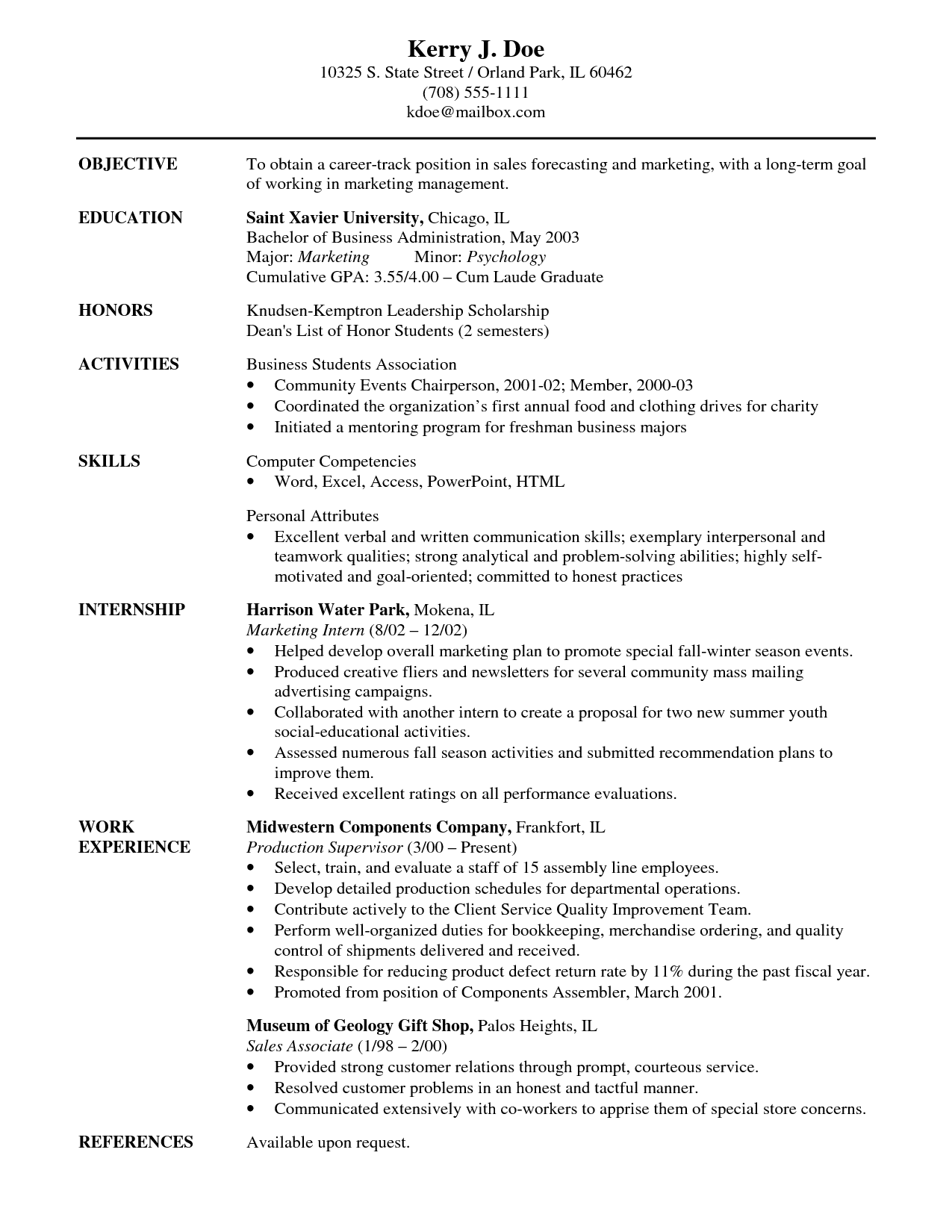 25 lovely best job objective in resume
