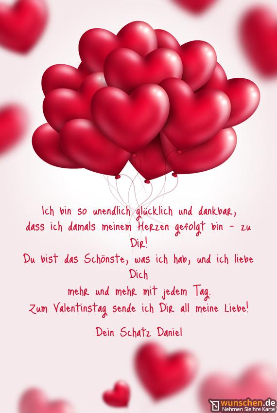 Ich Bin So Unendlich Glücklich Und Dankbar Fertig Valentinstag Karte
