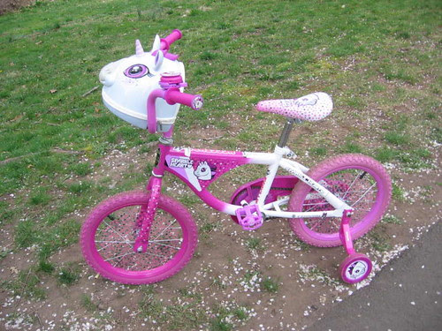 Fabulous sparkly pink unicorn bicycle