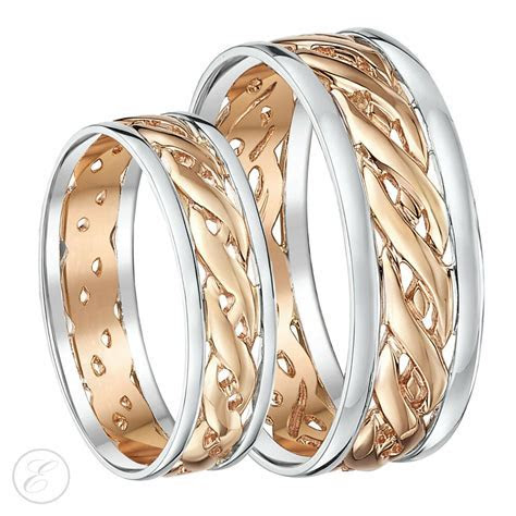 His & Hers 6mm & 7mm 9ct Rose Gold Celtic Wedding Ring Set