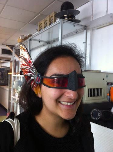 Sabina modelling my Eyewear design.
