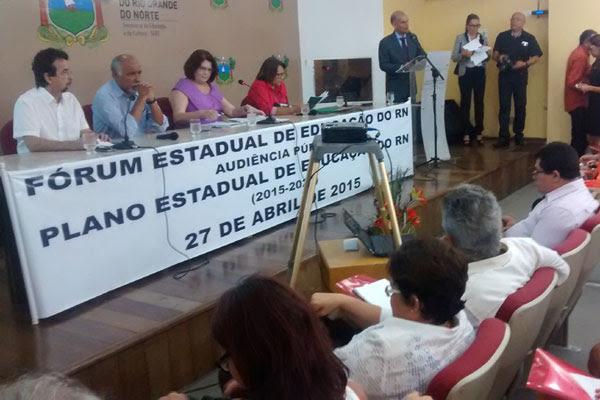Fórum Estadual de Educação do RN discutiu em audiência pública as propostas preliminares do PEE