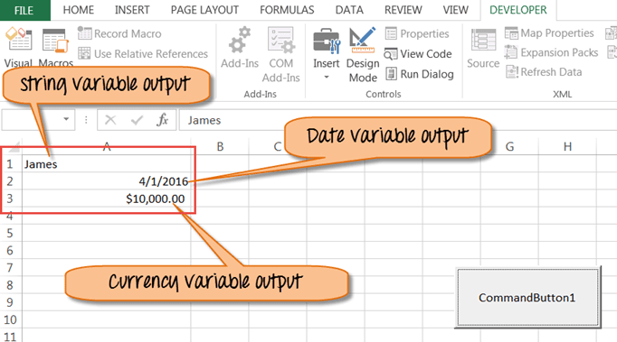 VBA Data Types, Variables & Constant