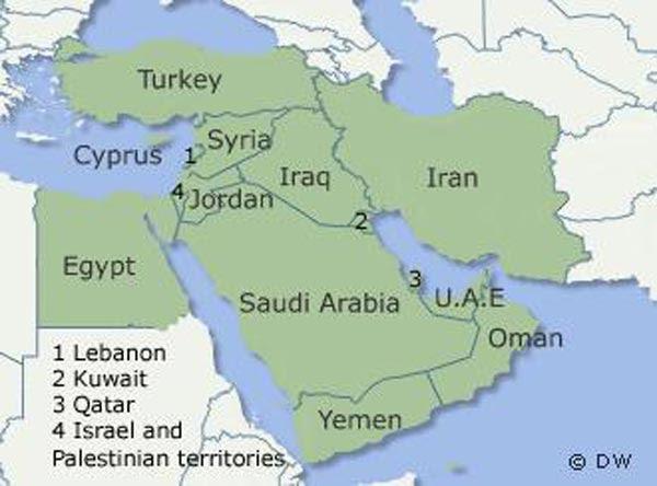karta: Karta Bliskog Istoka