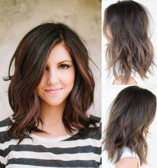 Most Beloved Long Bob Styles For Round Face Bob Hairstyles 2018