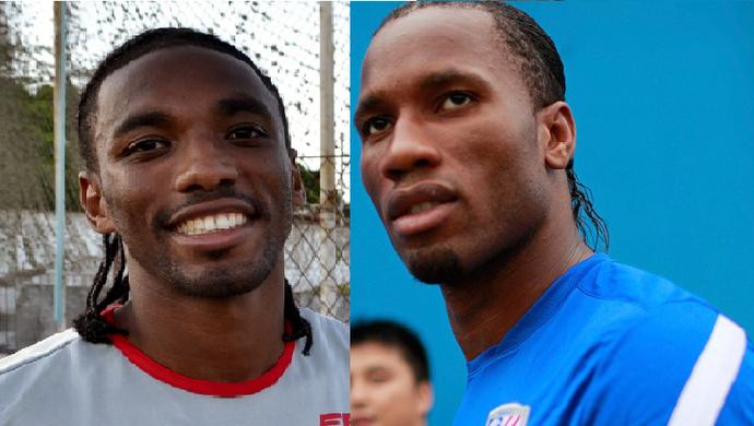 Jean Cléber, do América, e Didier Drogba (Foto: Jocaff Souza/ Agência Reuters)