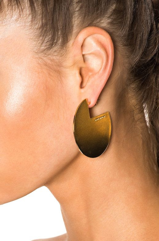 Le Fashion Blog Must Have Isabel Marant Gold Earrings Via Frwd