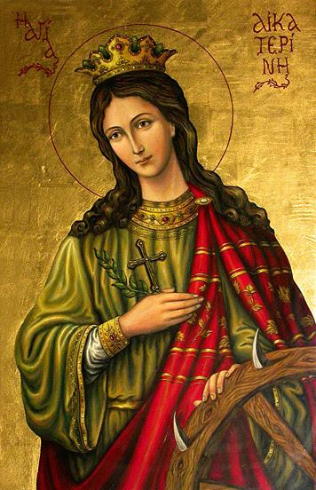 sainte Catherine d'Alexandrie, icone orthodoxe
