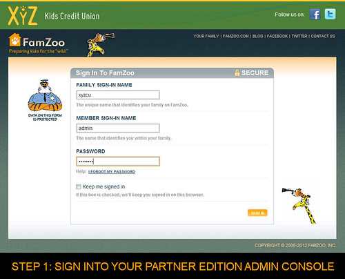 Step 1: Sign Into Your Partner Edition Admin Console