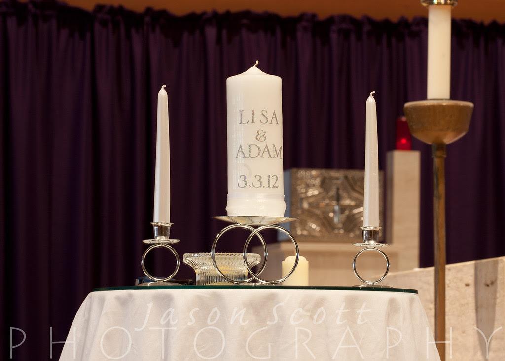 Adam and Lisa at Saints Peter & Paul the Apostles Catholic Church in Bradenton and IMG Academies Golf & Country Club in Bradenton