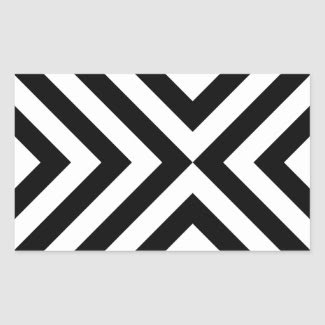 Black and White Chevrons Sticker