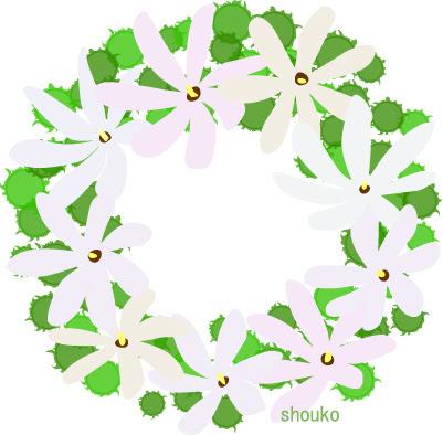 ティアレの花の無料イラストフリー素材 夏の花 南国の花