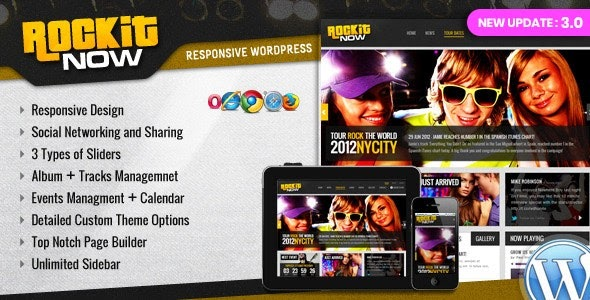 Rockit Now v3.0 - Music Band WordPress Theme
